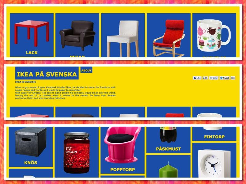 IKEA in het Zweeds