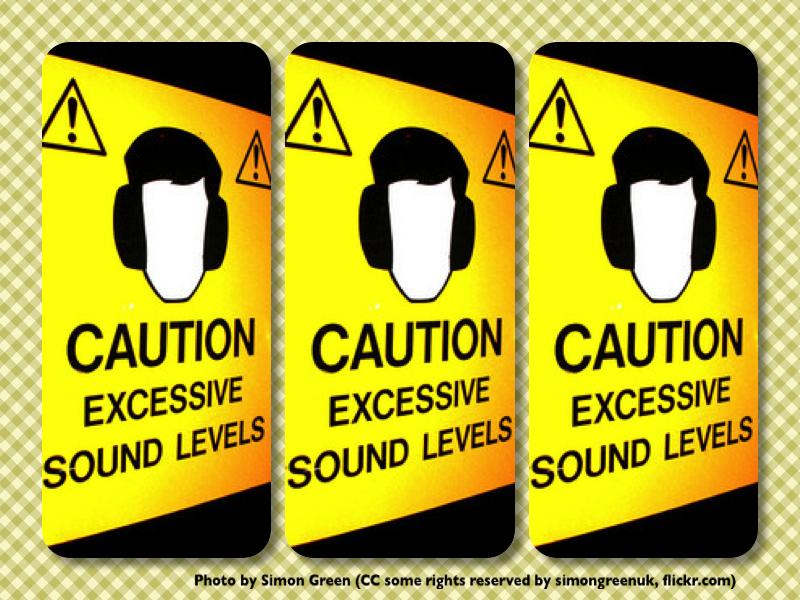 Als ik het niet weet: Caution excessive sound levels